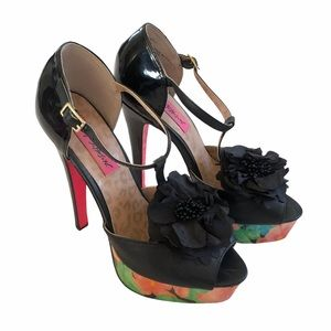 Betsey Johnson Rubyyy Platform Floral High Heels
